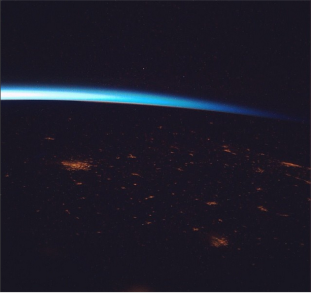 City lights seen from space