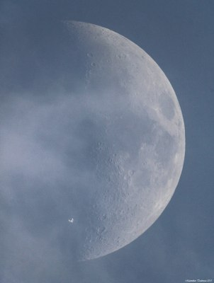 The ISS transiting the moon