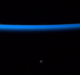 The moon as seen by ISS